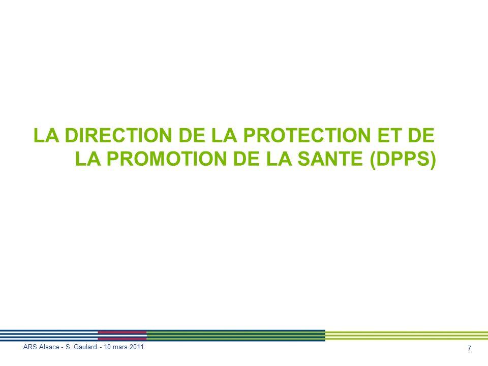 LA DIRECTION DE LA PROTECTION ET DE LA PROMOTION DE LA SANTE (DPPS)