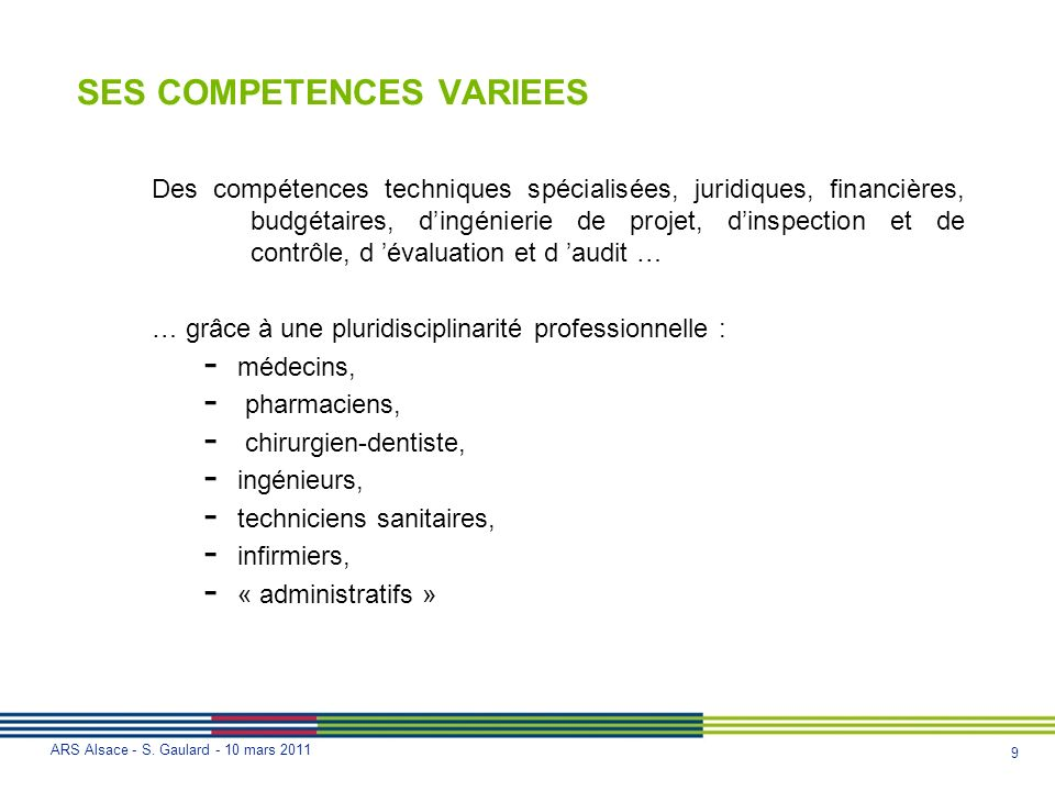 SES COMPETENCES VARIEES