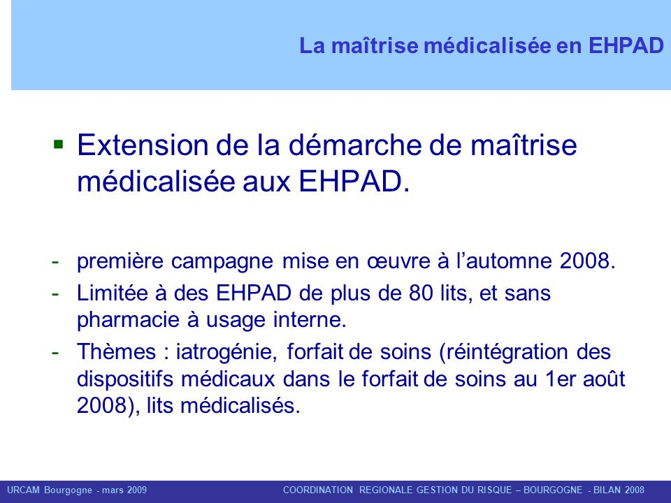 La maîtrise médicalisée en EHPAD