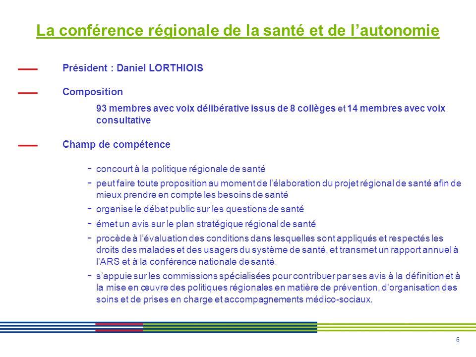 La conférence régionale de la santé et de l'autonomie