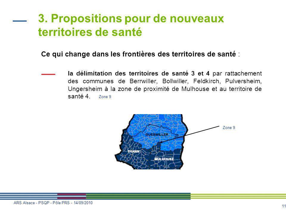 3. Propositions pour de nouveaux territoires de santé