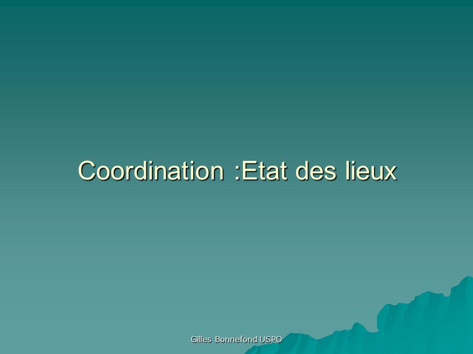 Coordination :Etat des lieux