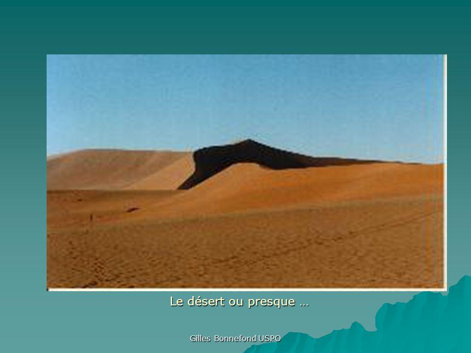 Le désert ou presque … Gilles Bonnefond USPO