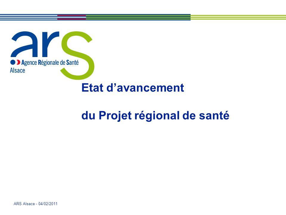 Etat d'avancement du Projet régional de santé