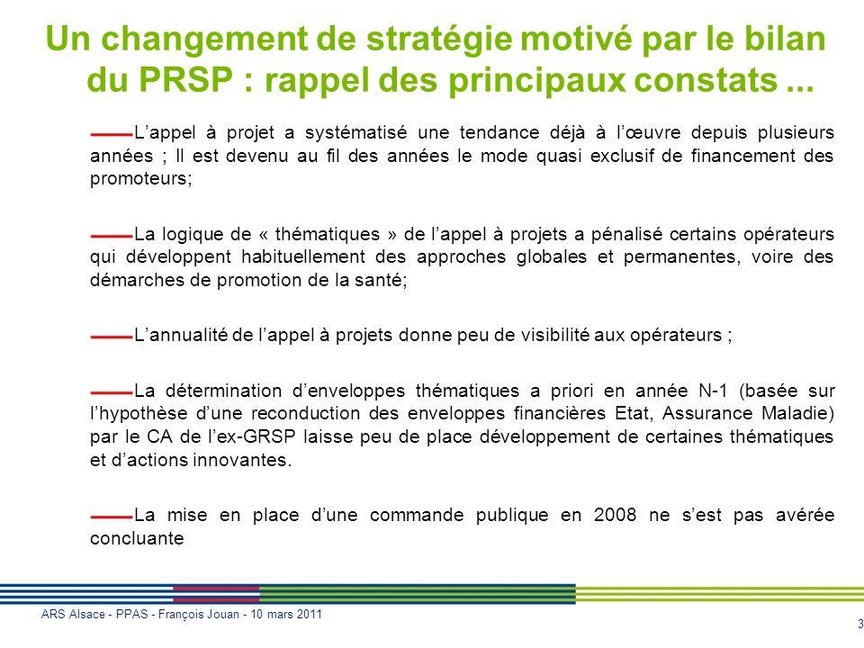 Un changement de stratégie motivé par le bilan du PRSP : rappel des principaux constats ...