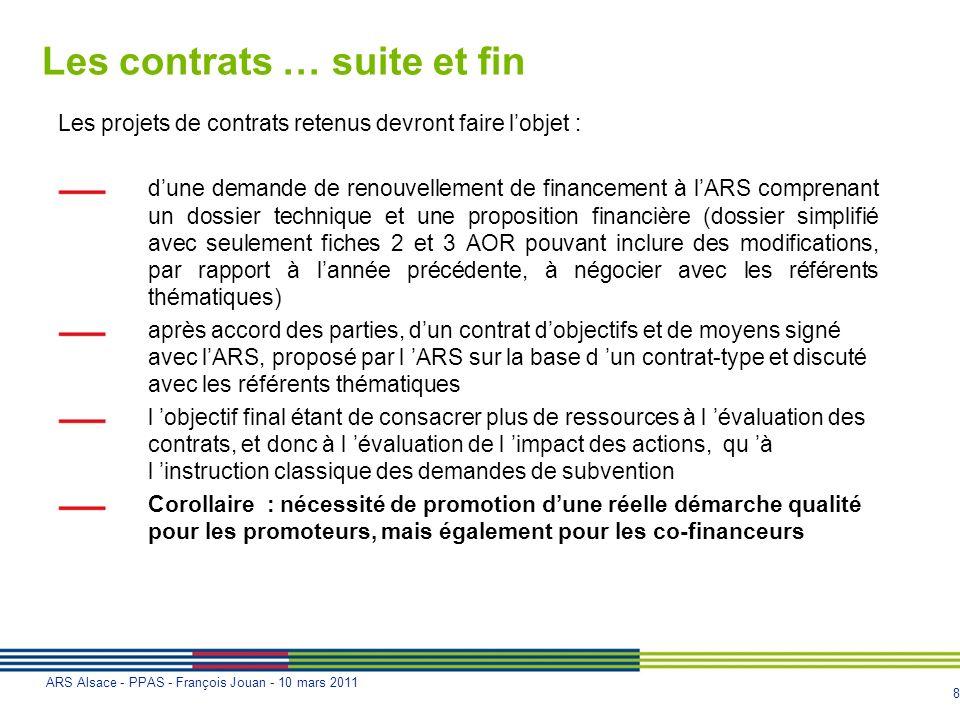 Les contrats … suite et fin