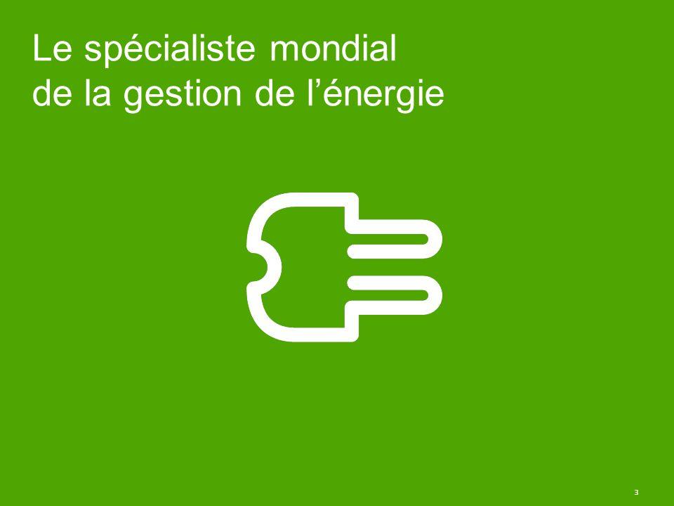 Le spécialiste mondial de la gestion de l'énergie