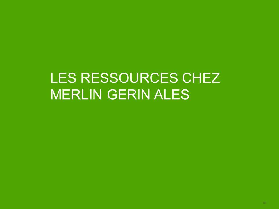 LES RESSOURCES CHEZ MERLIN GERIN ALES