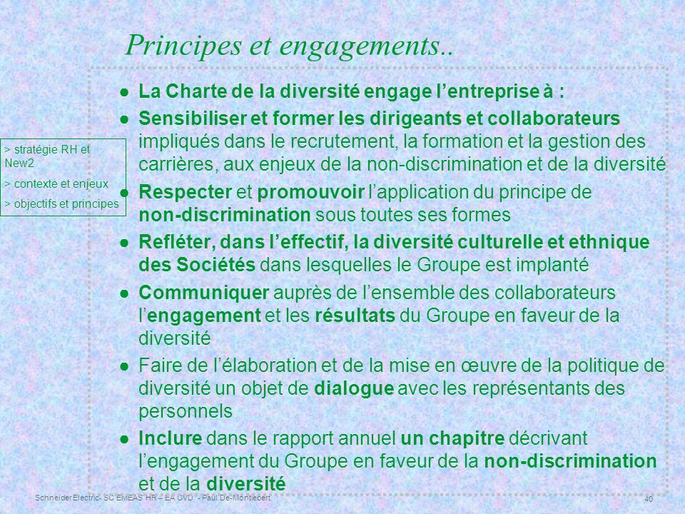 Principes et engagements..