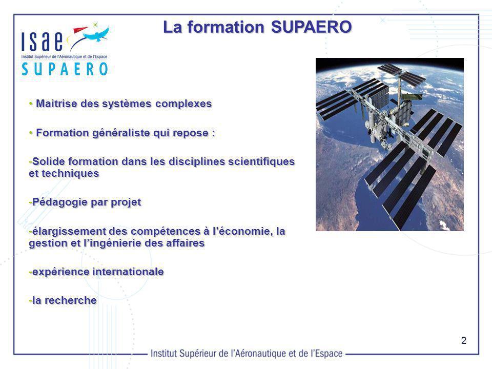 La formation SUPAERO Maitrise des systèmes complexes