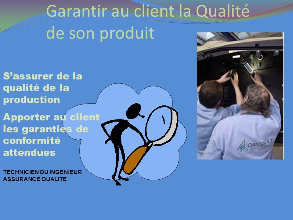 Garantir au client la Qualité de son produit