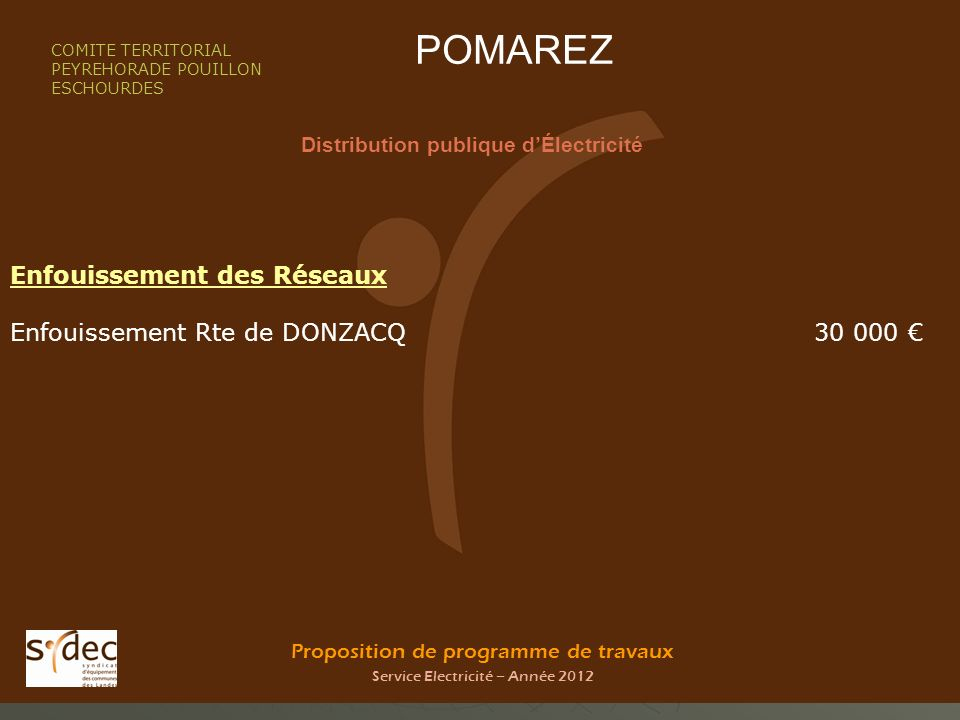 Distribution publique d'Électricité