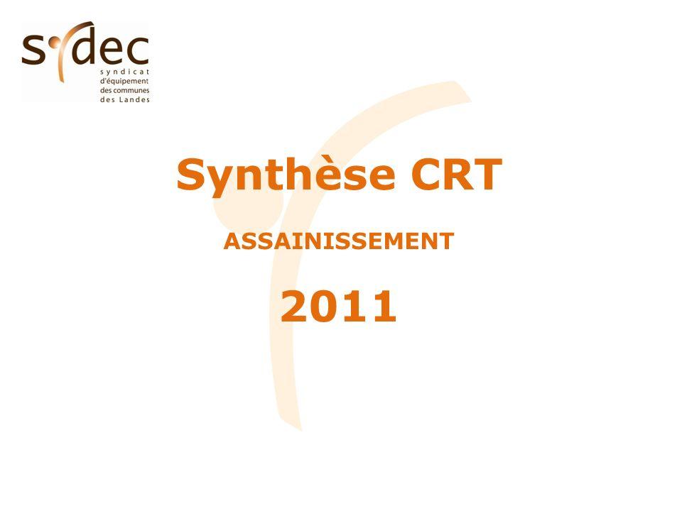 Synthèse CRT ASSAINISSEMENT 2011