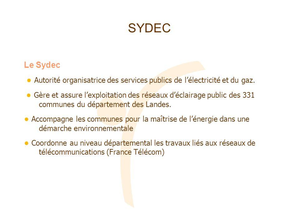 SYDEC Le Sydec. ● Autorité organisatrice des services publics de l'électricité et du gaz.