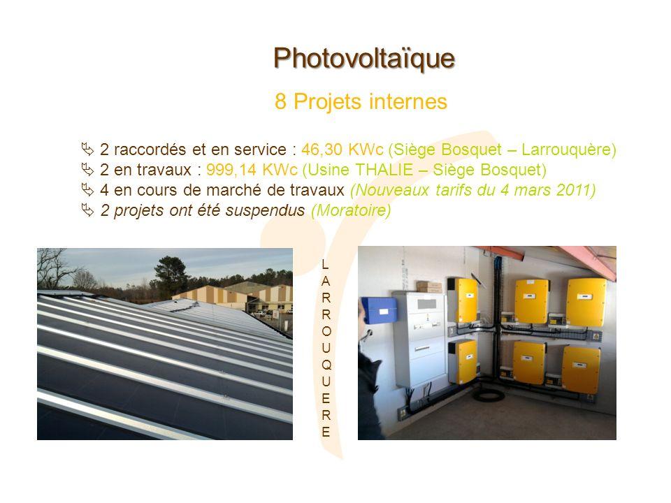 Photovoltaïque 8 Projets internes