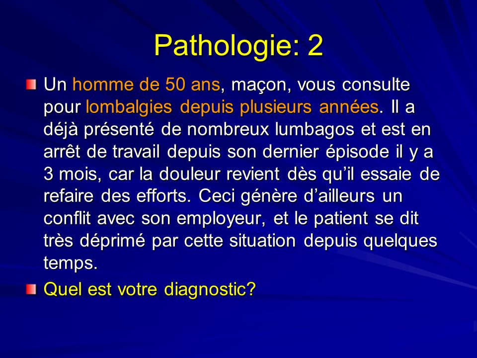 Pathologie: 2