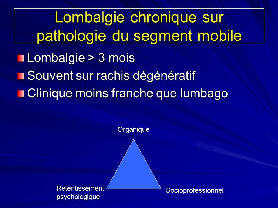 Lombalgie chronique sur pathologie du segment mobile