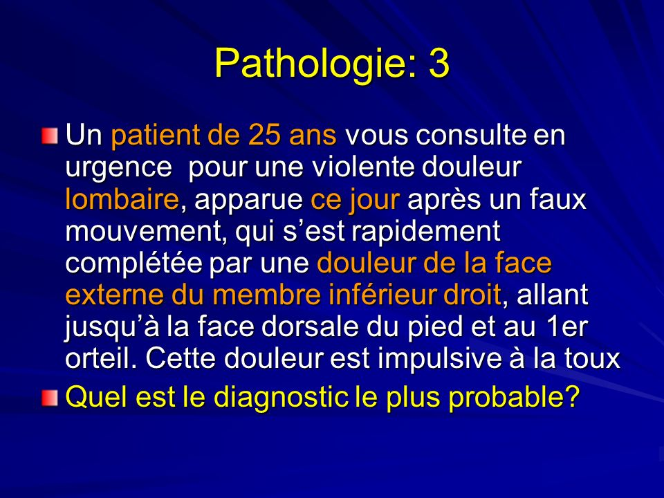 Pathologie: 3