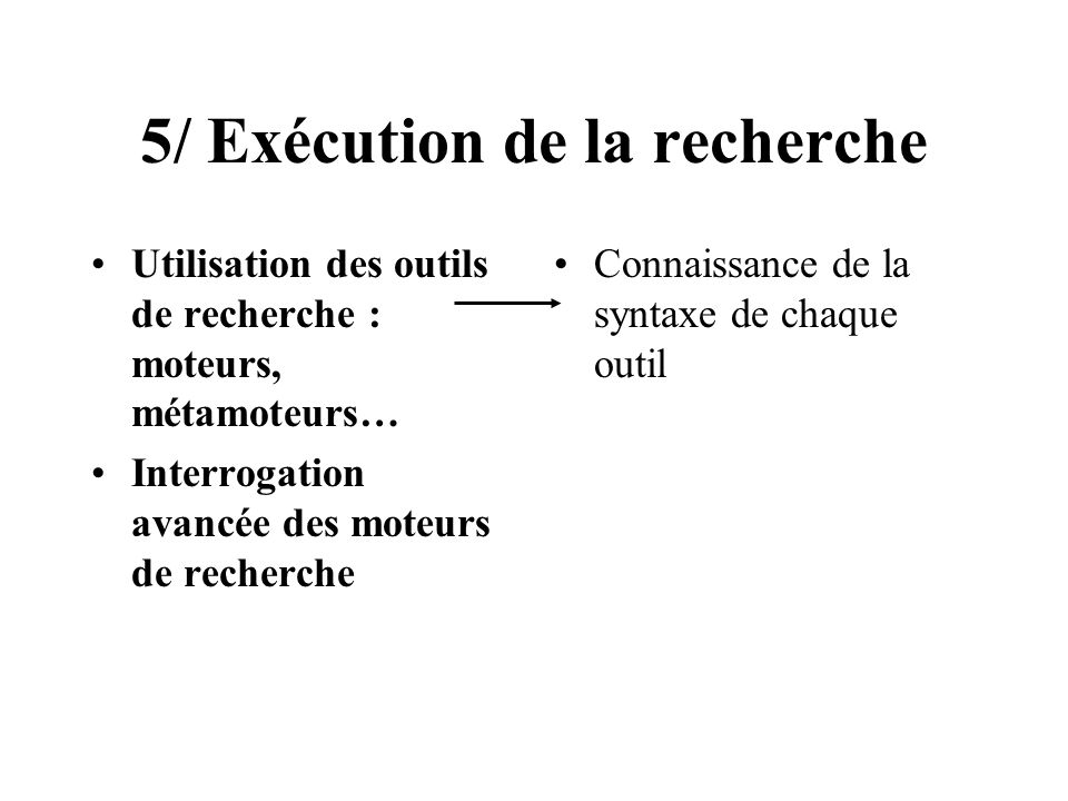 5/ Exécution de la recherche