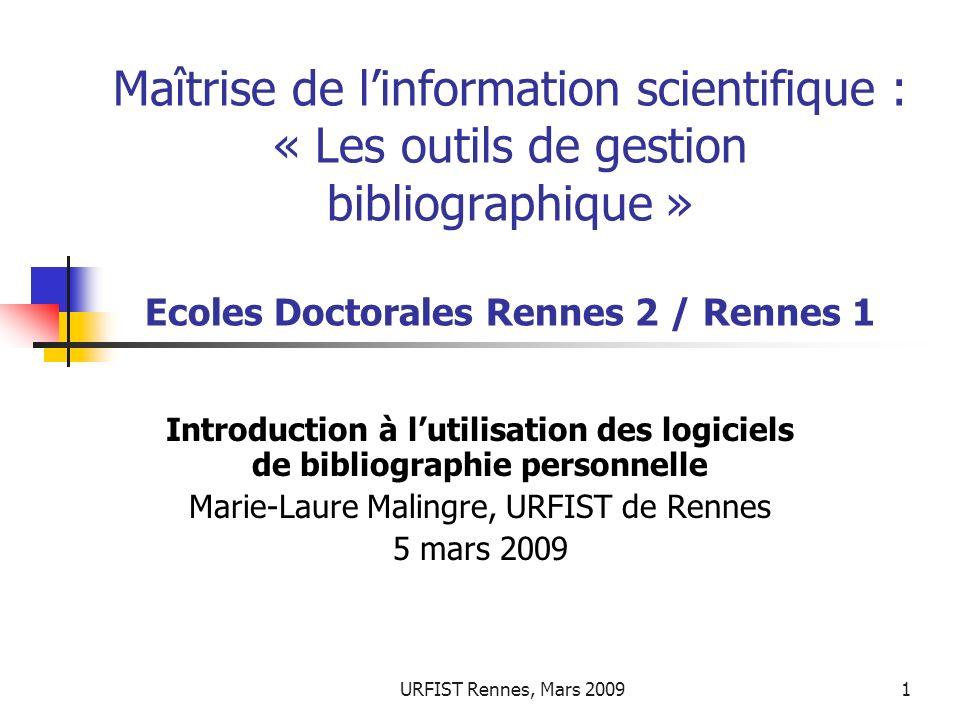 Marie-Laure Malingre, URFIST de Rennes