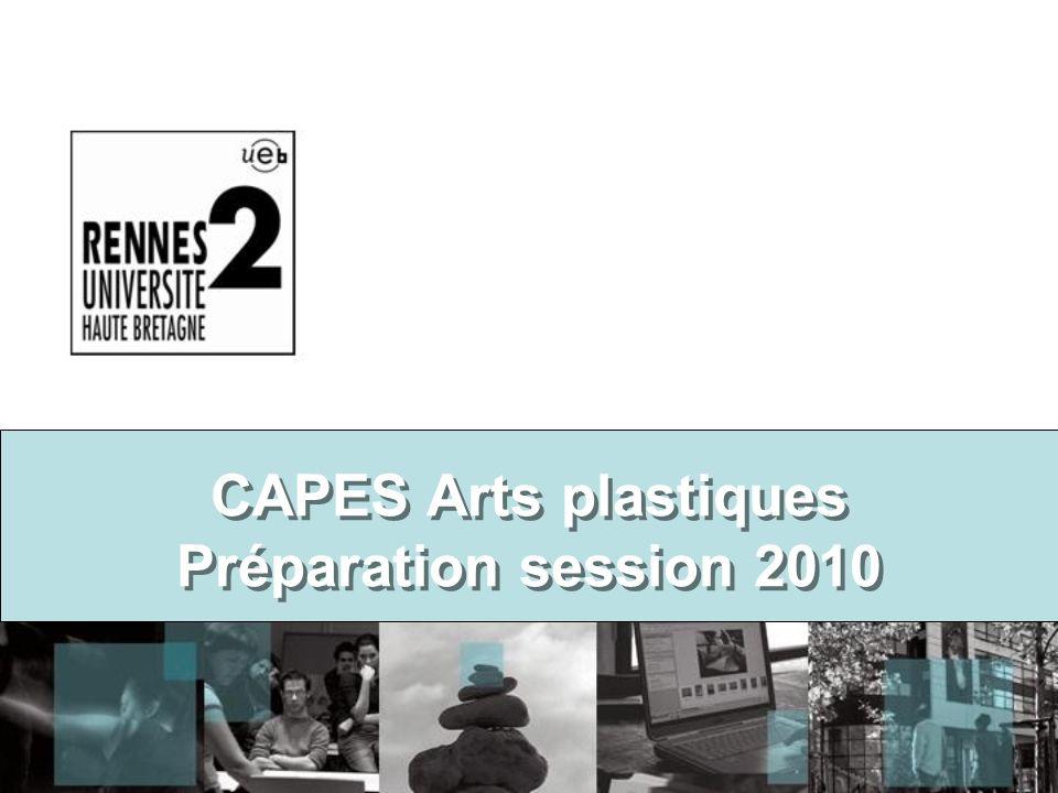 CAPES Arts plastiques Préparation session 2010