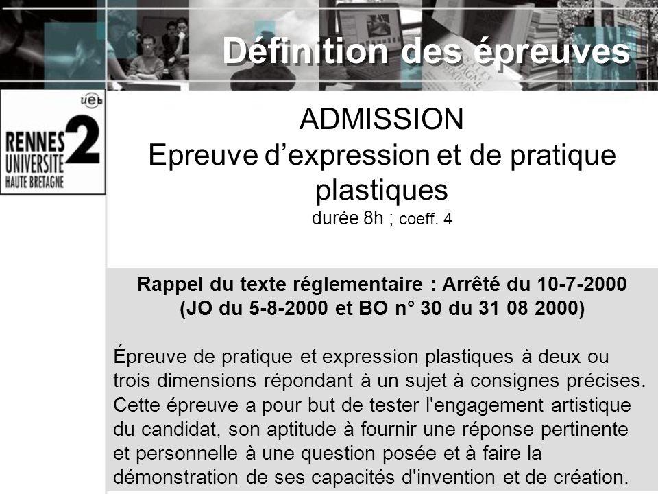 Rappel du texte réglementaire : Arrêté du 10-7-2000