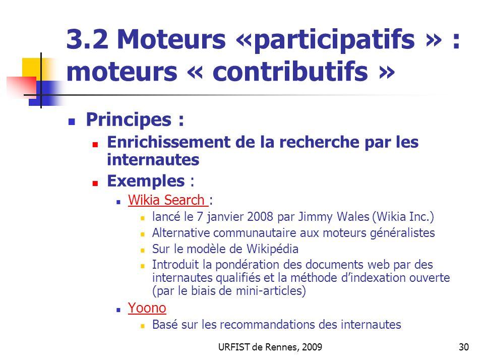 3.2 Moteurs «participatifs » : moteurs « contributifs »
