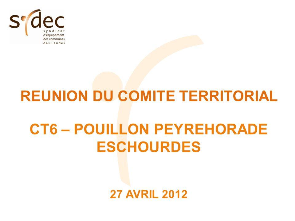 REUNION DU COMITE TERRITORIAL CT6 – POUILLON PEYREHORADE ESCHOURDES