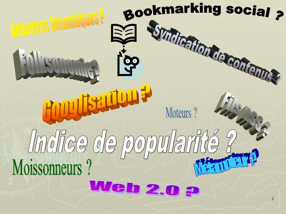 Googlisation Annuaires thématiques Bookmarking social