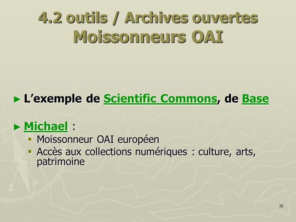 4.2 outils / Archives ouvertes Moissonneurs OAI