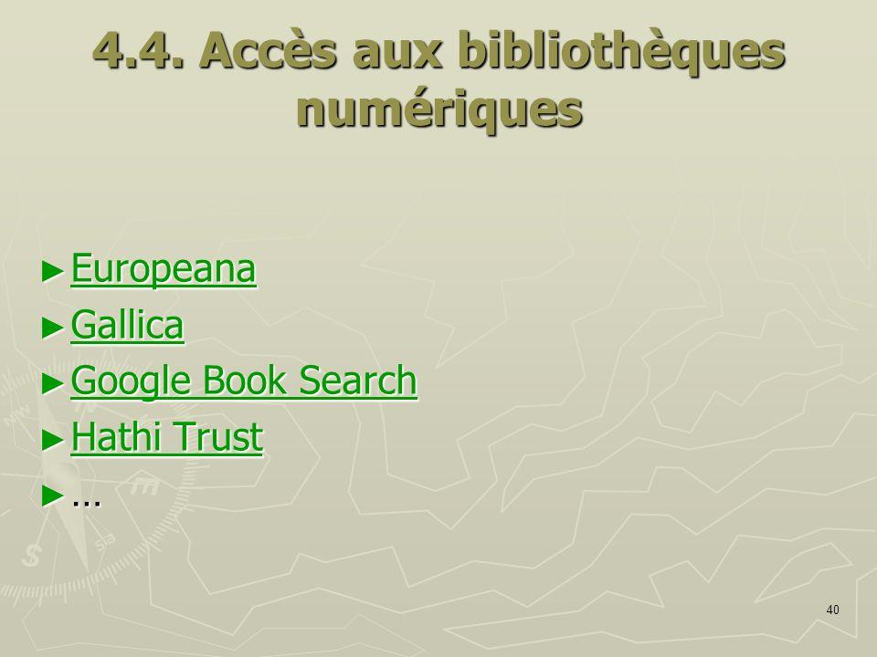 4.4. Accès aux bibliothèques numériques
