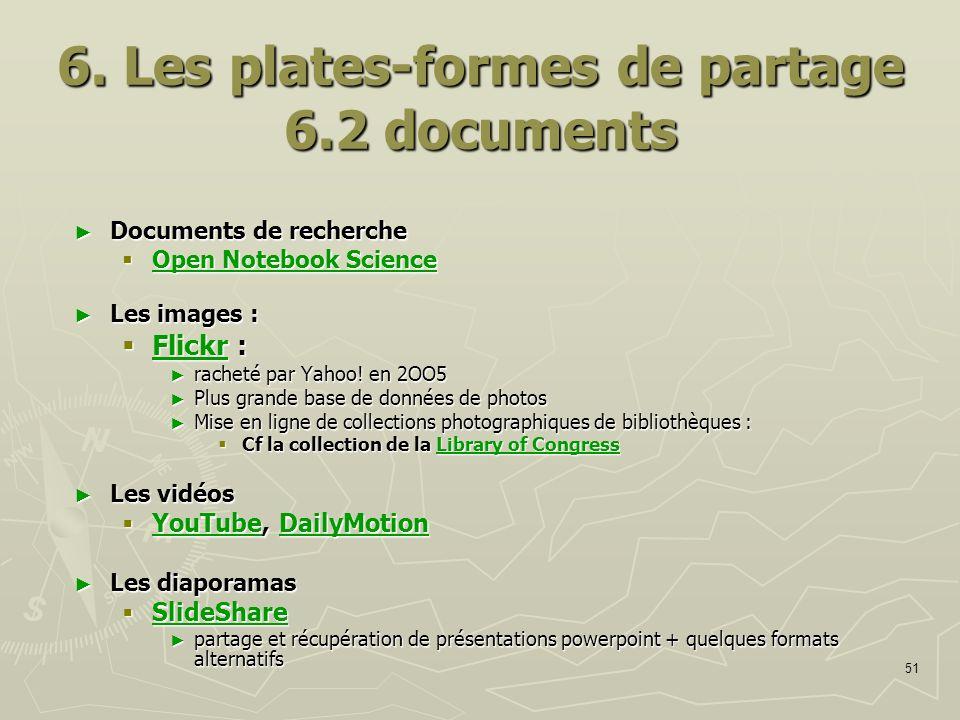 6. Les plates-formes de partage 6.2 documents