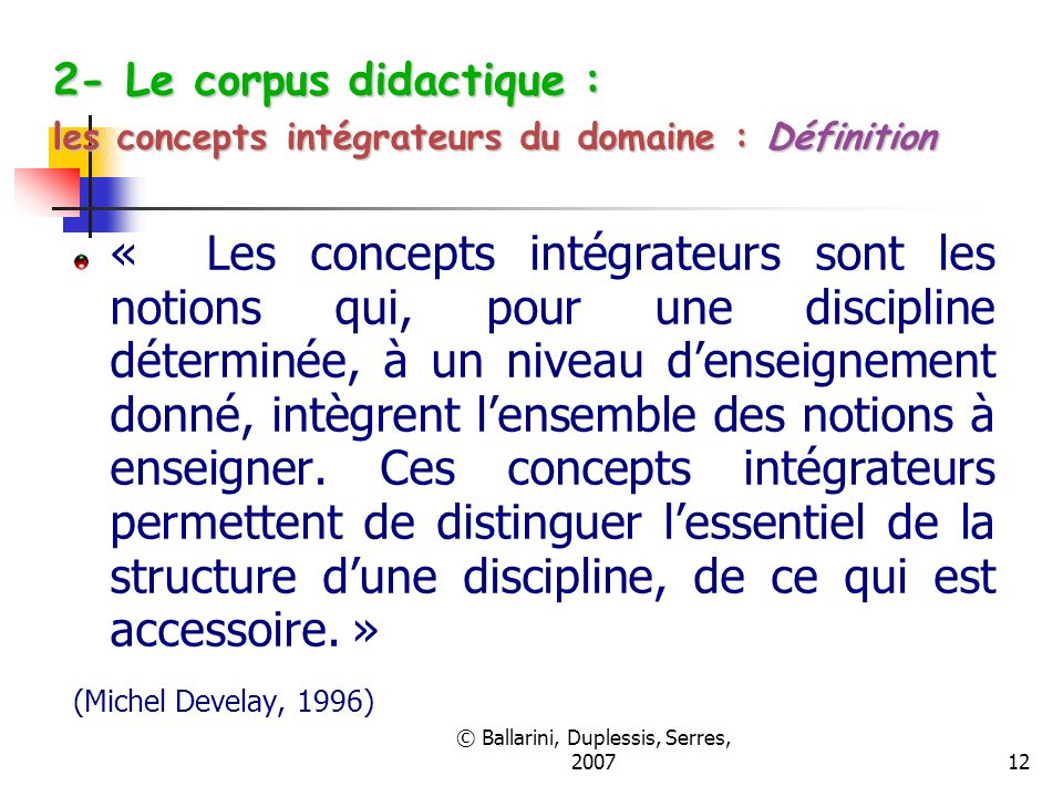 © Ballarini, Duplessis, Serres, 2007