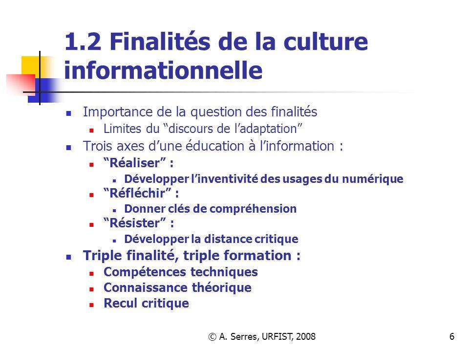 1.2 Finalités de la culture informationnelle