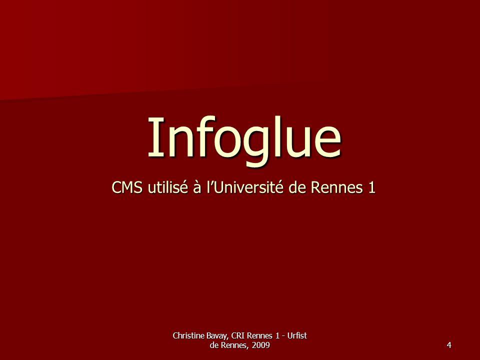 Infoglue CMS utilisé à l'Université de Rennes 1