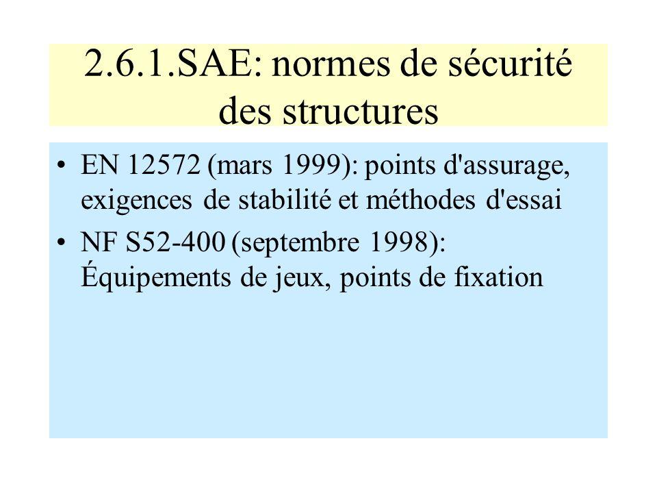 2.6.1.SAE: normes de sécurité des structures