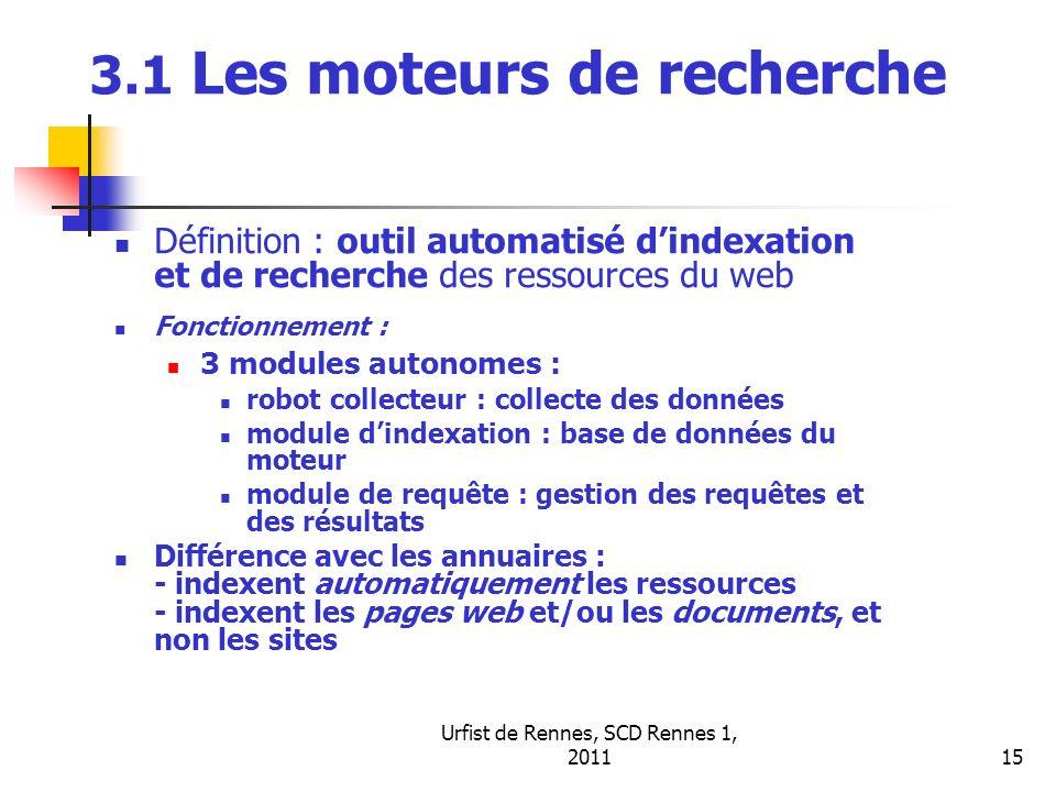 3.1 Les moteurs de recherche