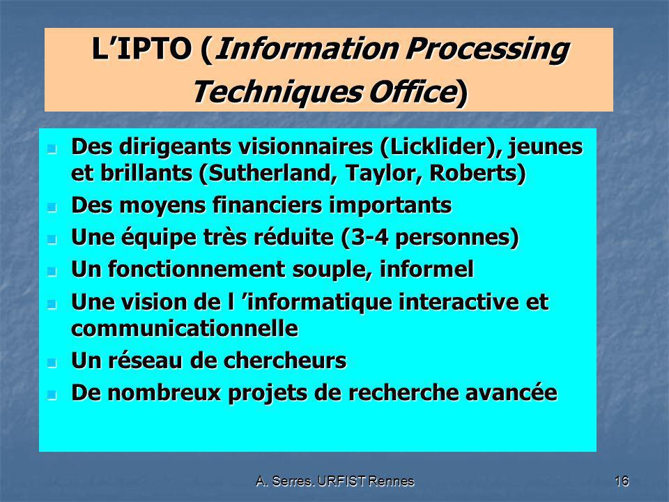 L'IPTO (Information Processing Techniques Office)