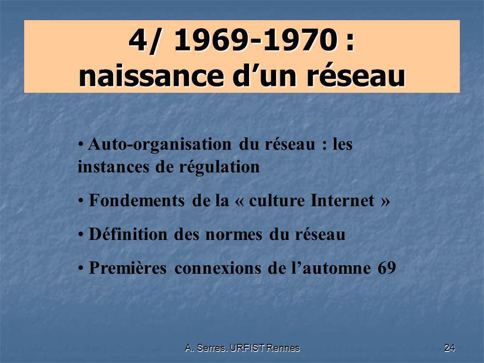 4/ 1969-1970 : naissance d'un réseau