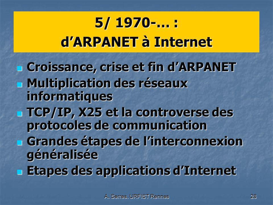 5/ 1970-… : d'ARPANET à Internet