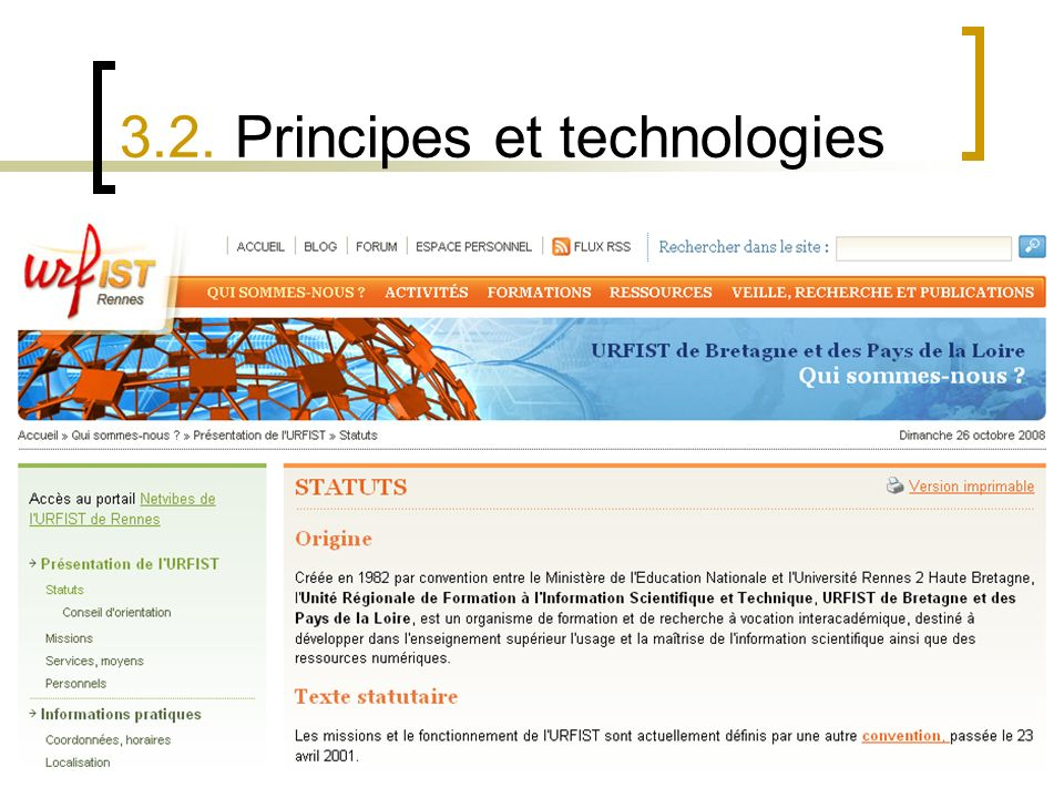 3.2. Principes et technologies