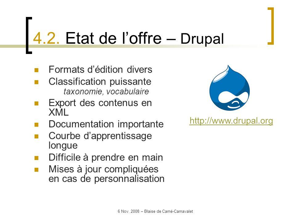 4.2. Etat de l'offre – Drupal