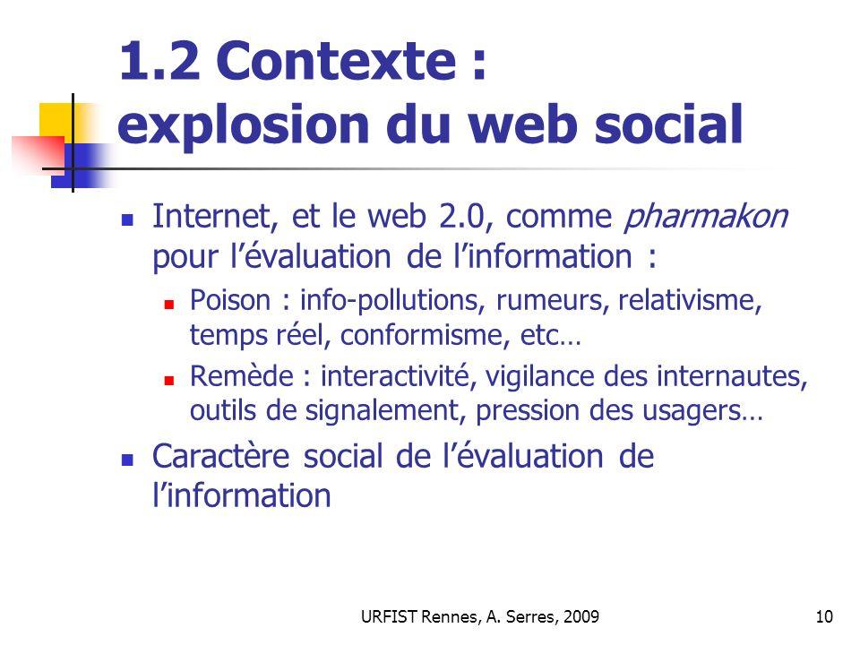 1.2 Contexte : explosion du web social
