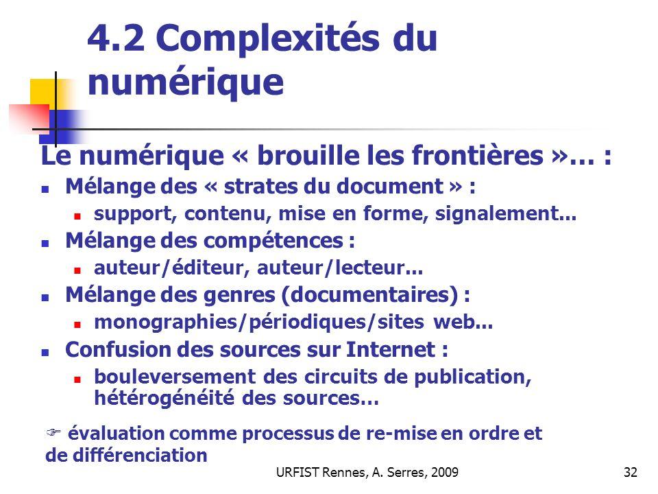 4.2 Complexités du numérique