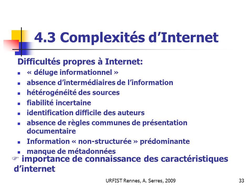 4.3 Complexités d'Internet