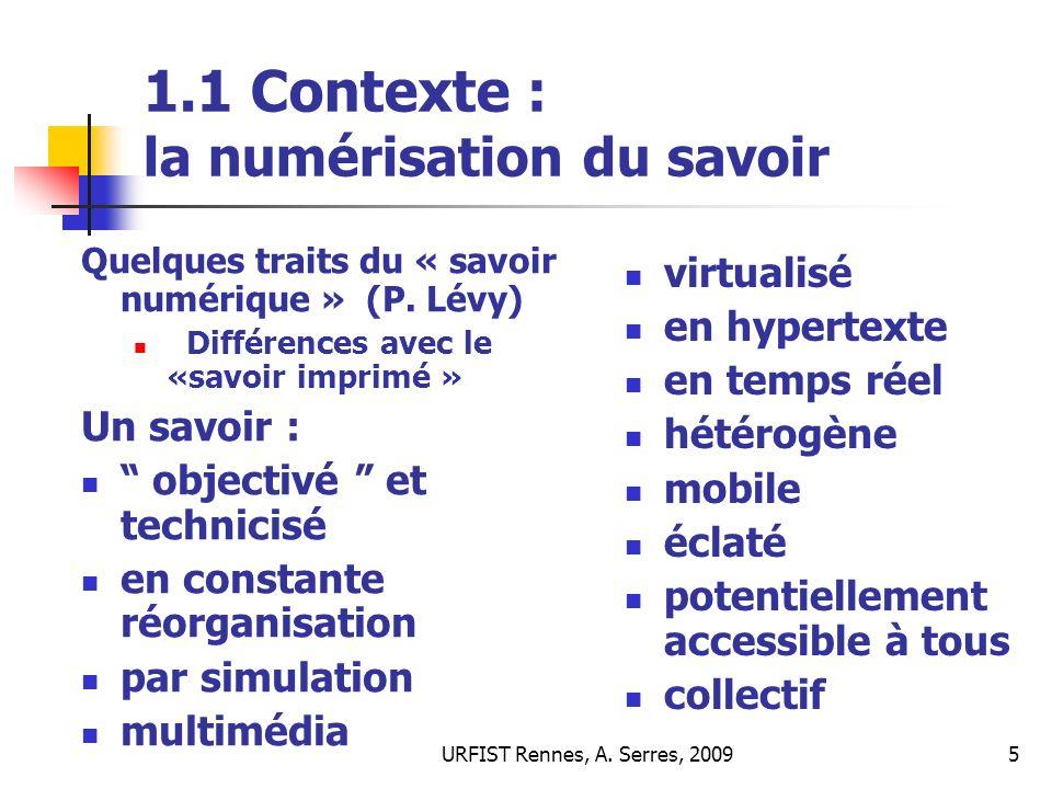 1.1 Contexte : la numérisation du savoir