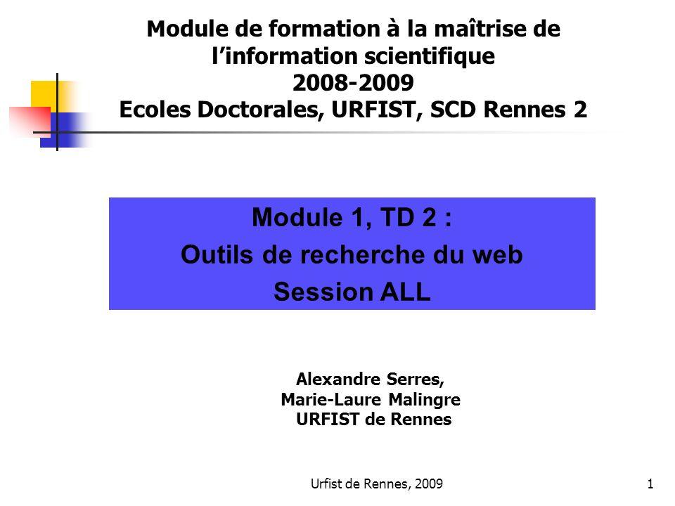 Module 1, TD 2 : Outils de recherche du web