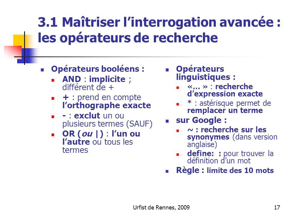 3.1 Maîtriser l'interrogation avancée : les opérateurs de recherche