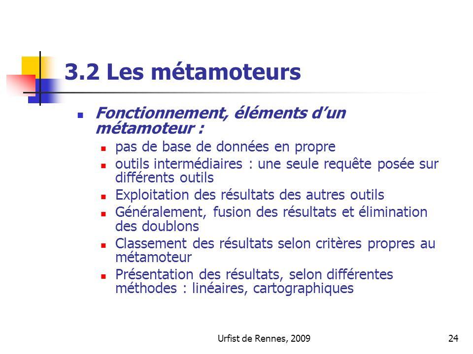 3.2 Les métamoteurs Fonctionnement, éléments d'un métamoteur :