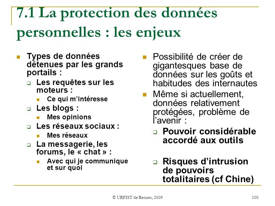 7.1 La protection des données personnelles : les enjeux